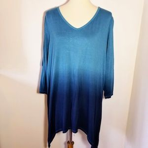Sunday 1X Blue Ombre Open Sleeve Sweater